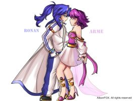 Ronan and Arme by alisonjohnsonfox