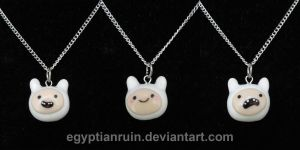 Many Faces of Finn Necklaces by egyptianruin