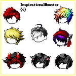| Maplestory Mixed Boy Hairs | by InspirationalMonster