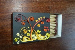 Quilling: Blossoming fire by eensteen123