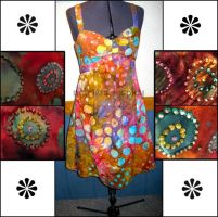 Beaded Tie Dye Summer Dress by Natalie526