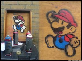 Mario 3 and 4 layer stencil by Reunie