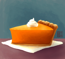 pumpkin pie by Grecia-Frangos
