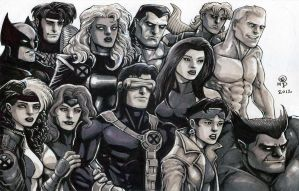 X-Men, Circa 1991 by olybear