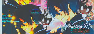 Okumura Rin portada ~OUT~ by x-NewMoon-x