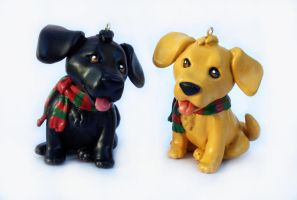 Labrador Puppy Christmas Ornaments by LeiliaClay