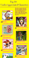 My Top 10 Under-Appreciated Characters Meme by PurfectPrincessGirl