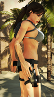 Lara Croft in bikini by James--C