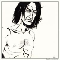 Severus Snape uncovered by Howlingmojo