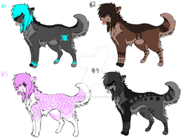 Scene Wolves - ALL SOLD by Spazz-Adopts