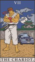 Street Fighter Tarot - The Chariot by SayIanIanIan