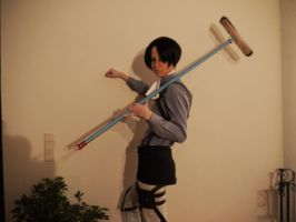 Cleaning is Sexy~ {Levi Cosplay} by TheCreepyNovice
