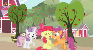 The cutie mark crusaders crusading tickles by RATCHETSUPERFAN