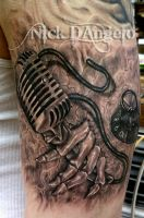 3D Music Tattoo by NickDAngeloTattoos