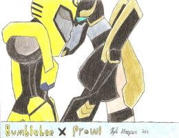 BumblebeeXProwl by StreepPrime