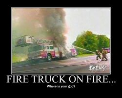 Fire Truck Fail Demote Poster by MikiMichelleMAL