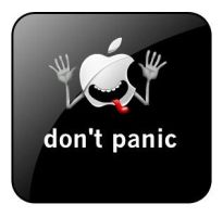 Don't Panic Iphone Button by ViriiGuy