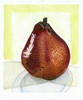Food I Ate: Red Pear by lozartist