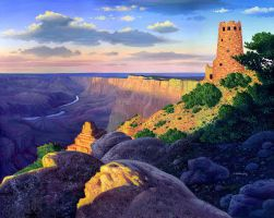 Grand Canyon Desert View by AlanGutierrezArt
