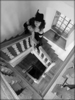 The Girl On The Stairs by Estruda