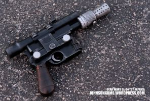 Han Solo's BlasTech DL-44 Pistol Replica by JohnsonArms