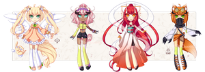 [CLOSED] Adoptables batch 1 - Kintsume by MiiaChuu