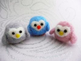 Trio of Needle Felted Birdies! by StarlitCutesies