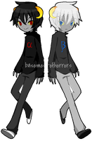 HS adopts 02 - The Twins  (FIXED PRICE - CLOSED) by basementofhorrors