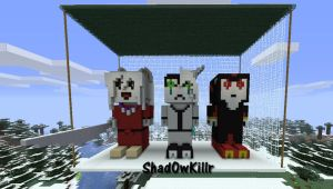Inuyasha Ulquiorra and Shadow Minecraft by Shad0wKillr