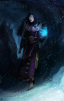 CM: Death Knight Emilia Hazeltine by Arcan-Anzas