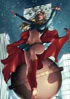 Supergirl - Night Flight by eHillustrations
