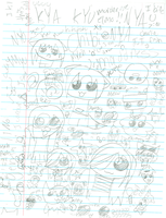 when bored at school... by 222222555555