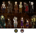 BioShock 1 and 2 Chibis by shihfu