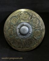 Oriental larp shield by BloodworxSander