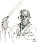 mace windu sketch by bamboleo
