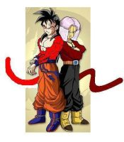 Future Gohan and Trunks SSJ4 by GalianChaos21