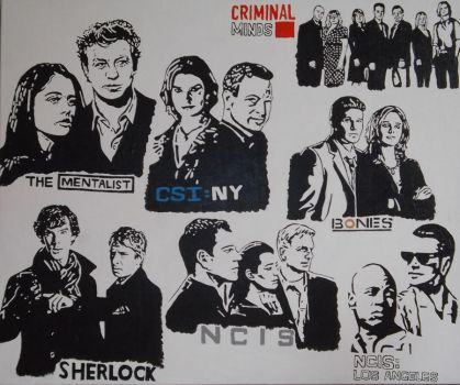 My favourite Tv series painting by BossHossBones