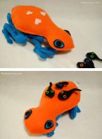 Plush Mama Poison Dart Frog and Tadpoles by WeAreSevenStudios