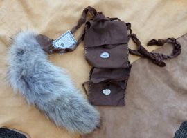 Wolf tail belt pouch set by lupagreenwolf
