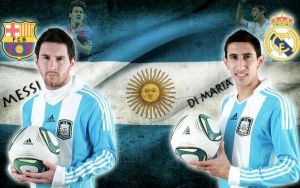 Lionel Messi and Angel DiMaria by Gogeta126