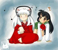 InuYasha loves the music by monchiiechiie