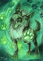 ACEO Look At My Shiny Paw by Sysirauta