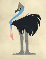 Daily Design: Cassowary by sketchinthoughts