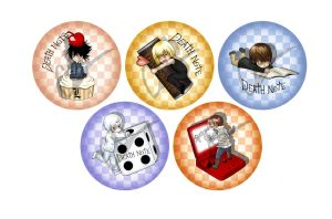 Death Note Pins by MortalFate