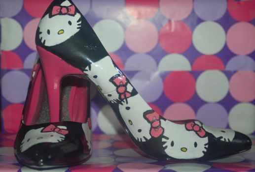 Hello Kitty Heels by Dysthymic-Bliss