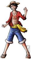 Straw Hat Luffy by Deer-Head