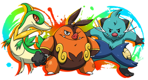 Fifth Gen Starters by FissionBase