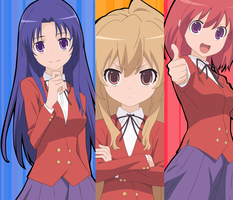 Girls of Toradora by RedRain352