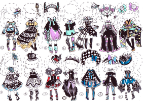 CLOSED-Gothic clothes by Guppie-Adopts