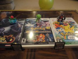 Pokemon games and figs by tailsdude12